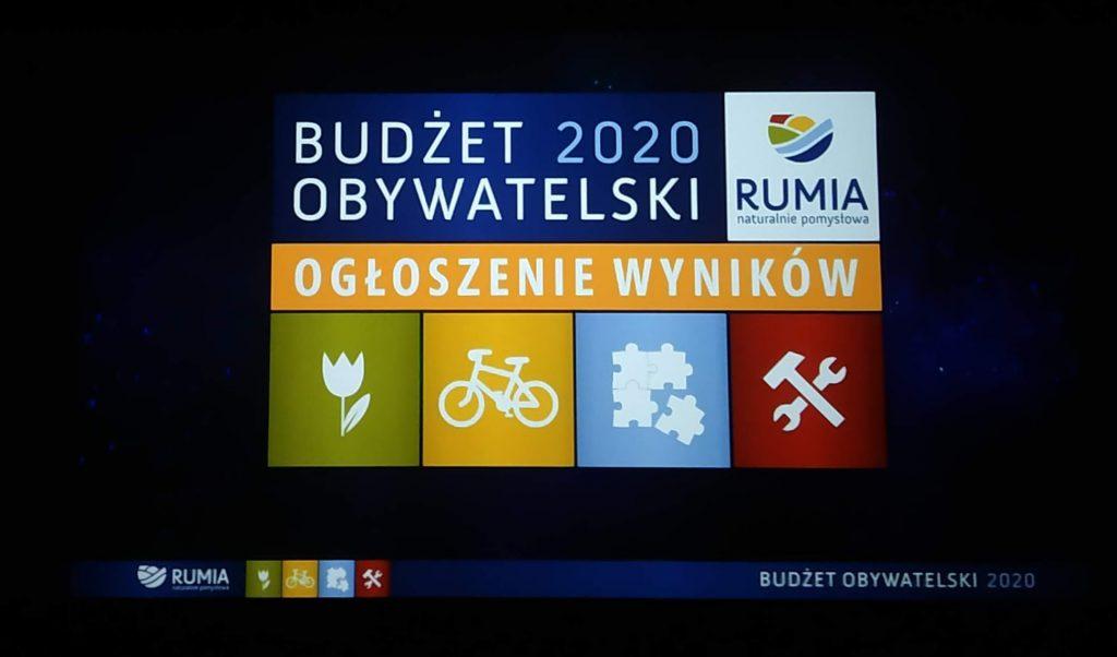 Budżet Obywatelski 2020 w Rumi - wyniki głosowania