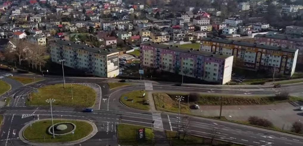 rumia z lotu ptaka miasto ulice zdjecia rumi wideo z drona