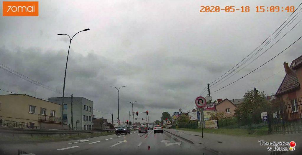 Niebezpieczna sytuacja na ul. Grunwaldzkiej w Rumi