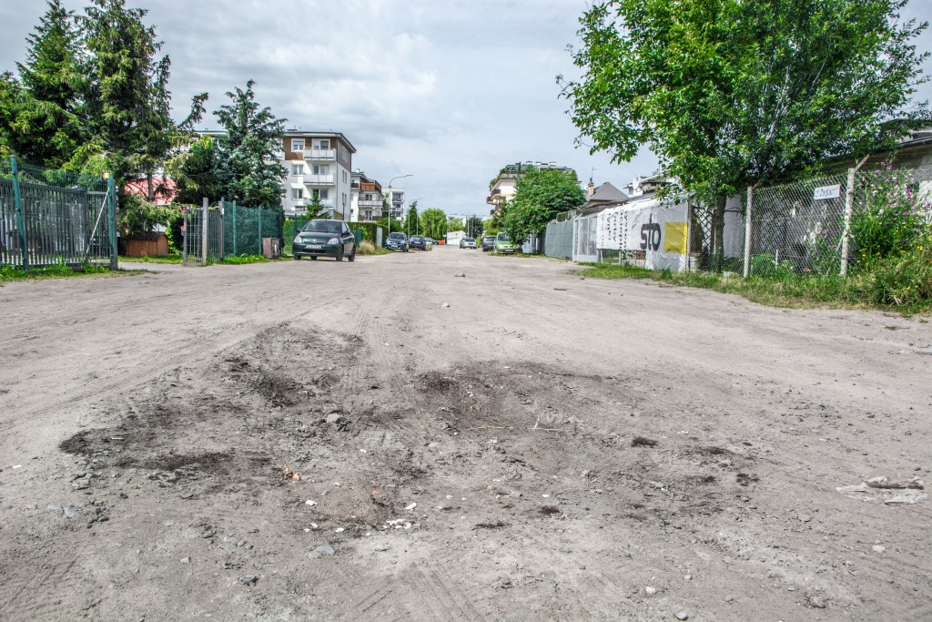 Remont ulicy Żeglarzy w Rumi