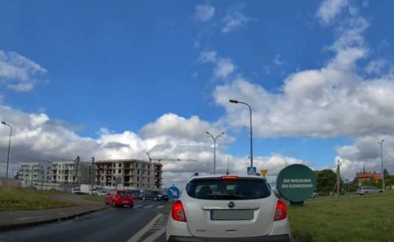 rumia port rumia kierowca pod prad film nagranie