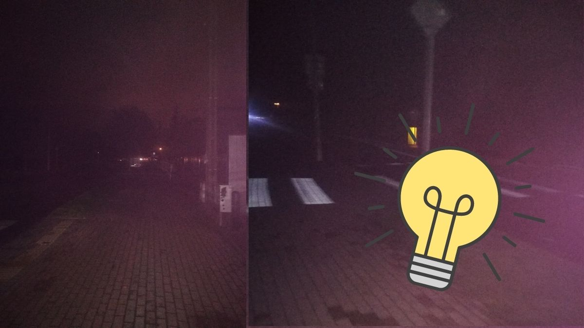 oswietlenie na ulicach rumi rumia problemy mieszkancow tymczasem w rumi