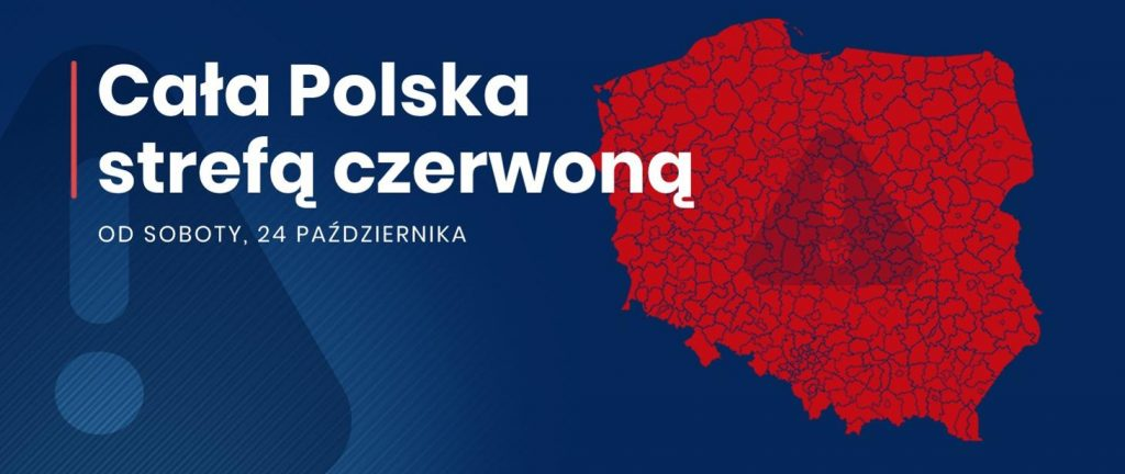 Od 24 października czerwona strefa w całej Polsce