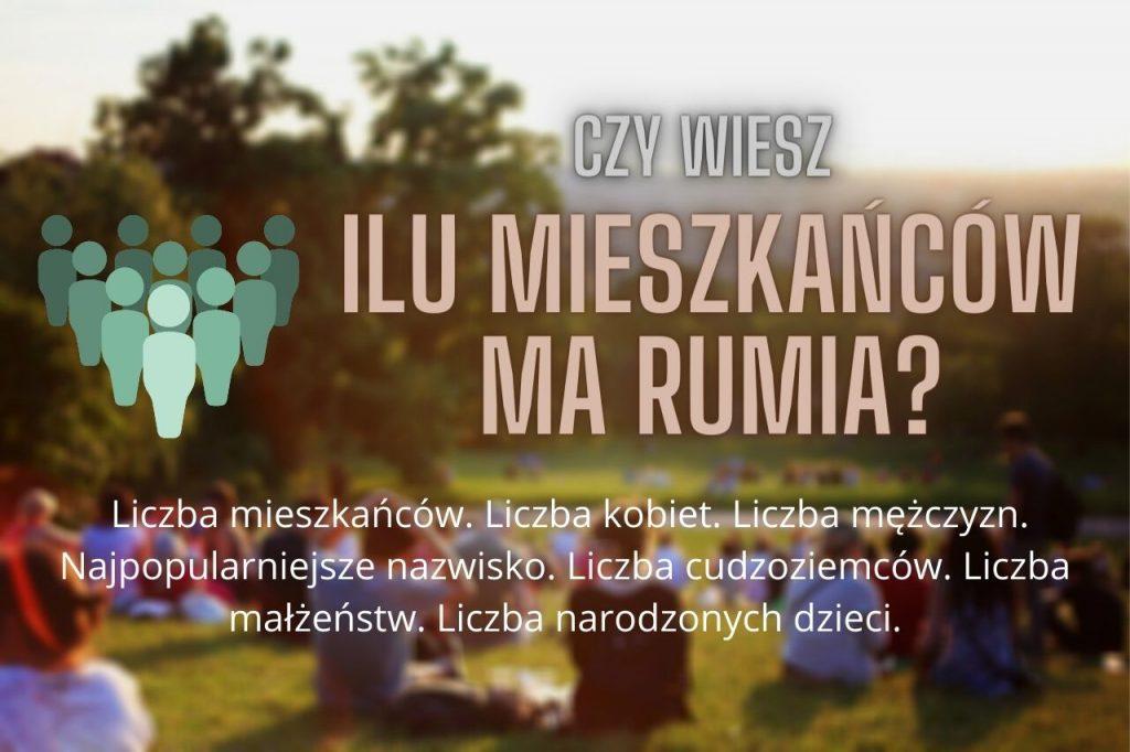 Ilu mieszkańców ma Rumia? Jakie jest najpopularniejsze nazwisko? Rok 2020 w liczbach.