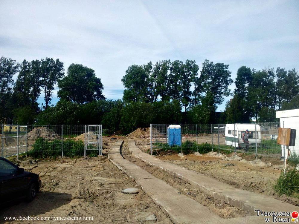 Budowa stadniny Darboven w Rumi