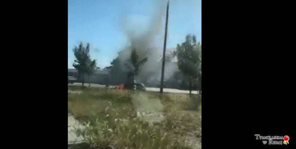 Pożar auta przy ul. Dębogórskiej w Rumi [WIDEO][Sygnał czytelnika]